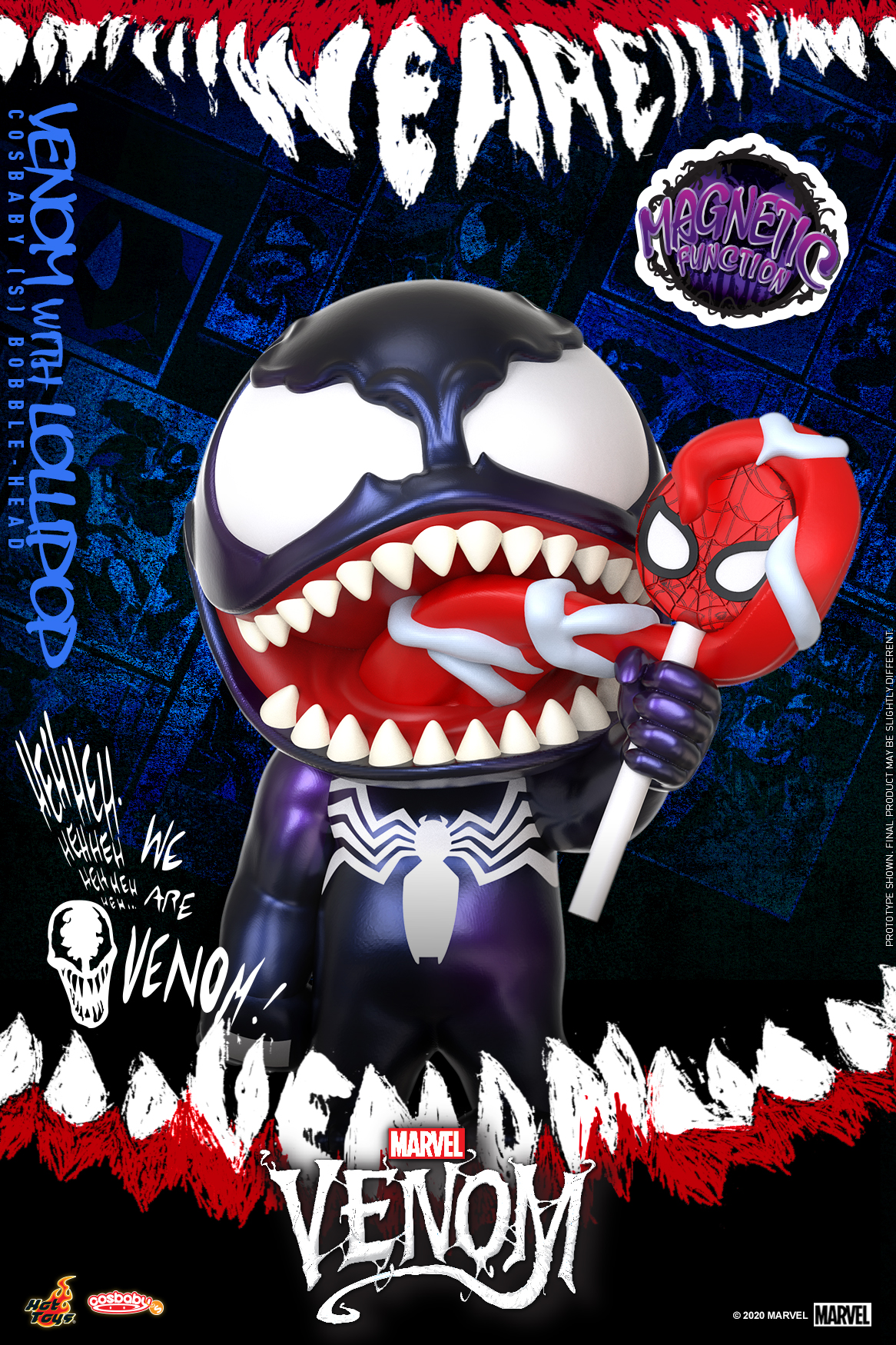 Hot Toys - Venom (Comic) - Venom with Lollipop Cosbaby_PR1