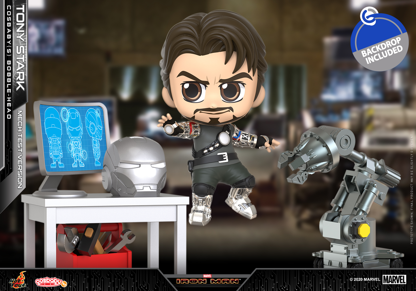 Hot Toys - Iron Man - Tony Stark (Mech Test) Cosbaby Set_PR1