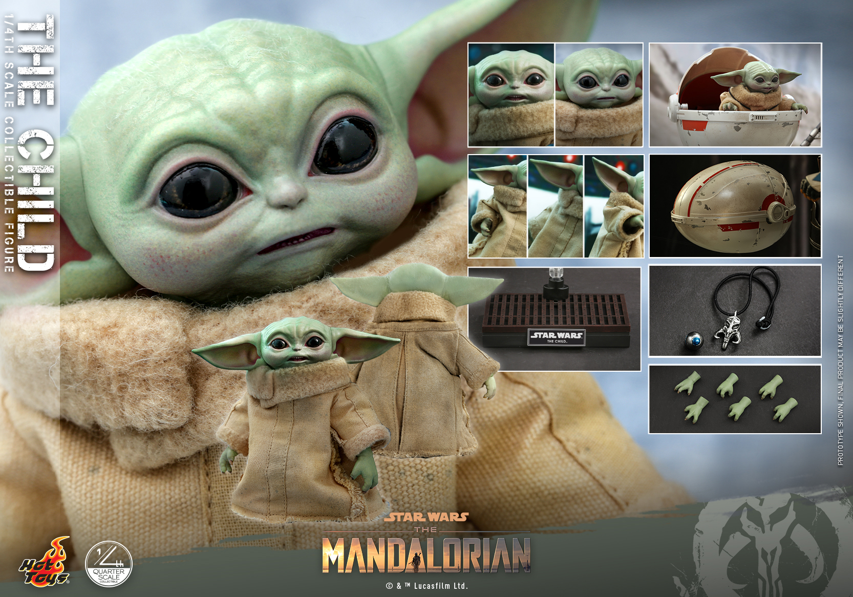 Hot Toys - SWTM - Quarter Scale The Child_PR13