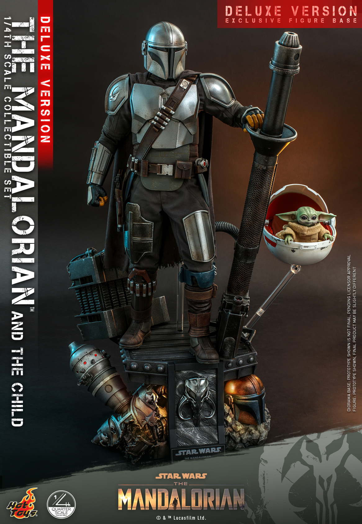 Hot Toys - SWTM - Quarter Scale The Mandalorian & The Child Deluxe_PR11
