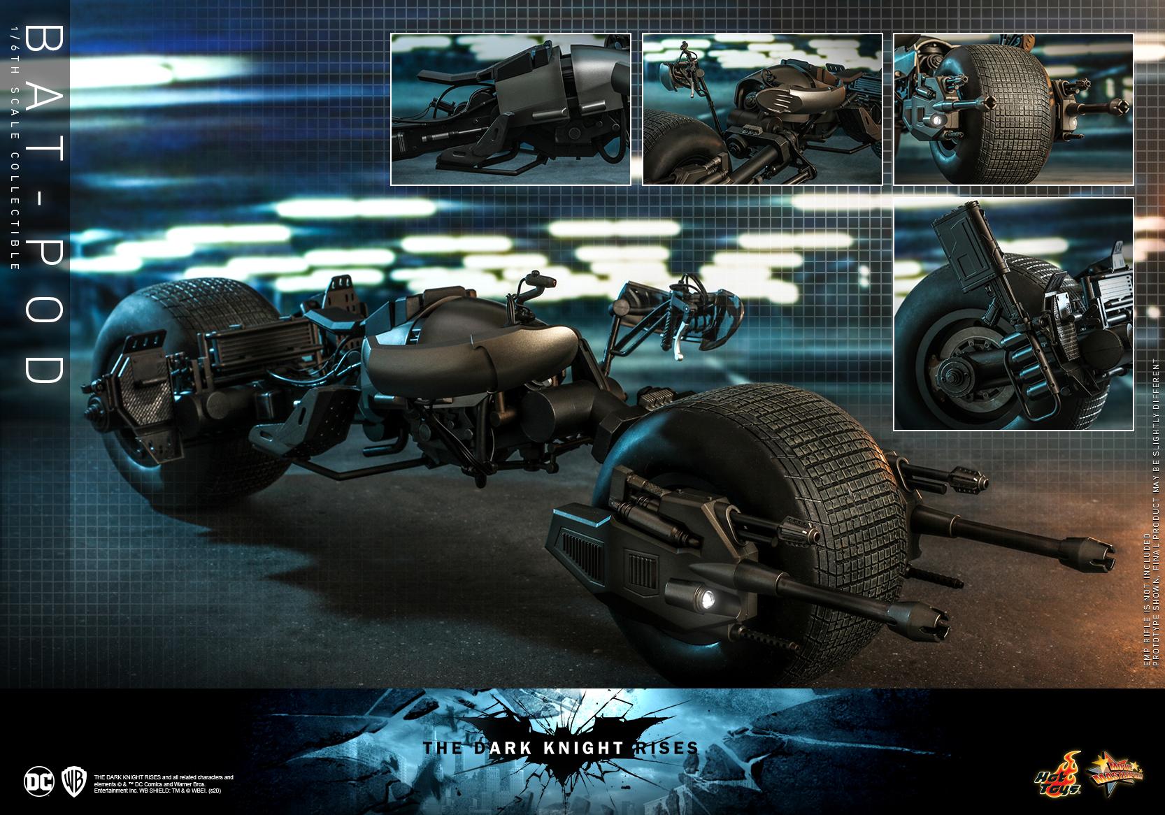 Hot Toys - TDKR - Bat-pod collectible_PR15