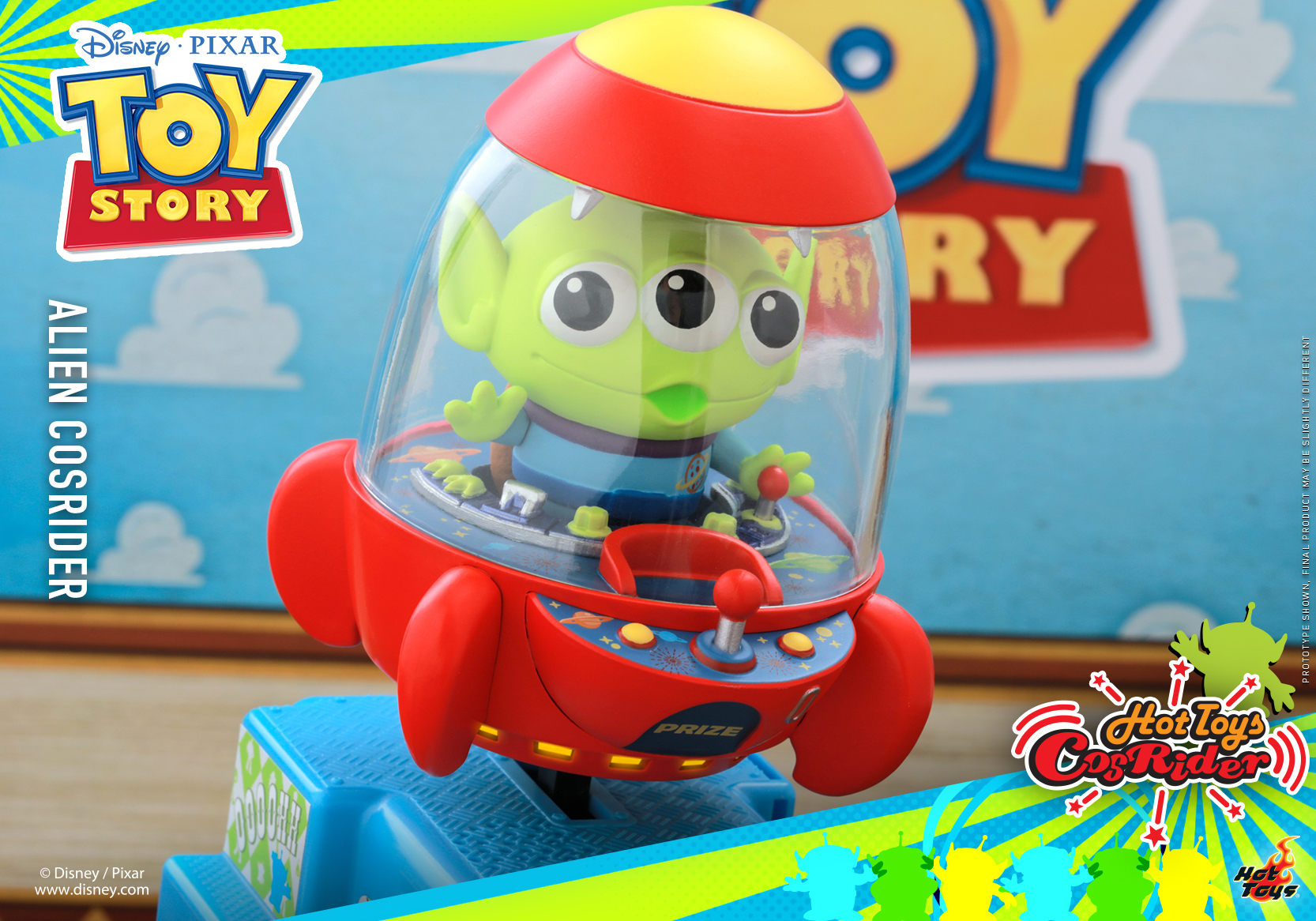 Hot Toys - Toy Story - Alien CosRider_PR2