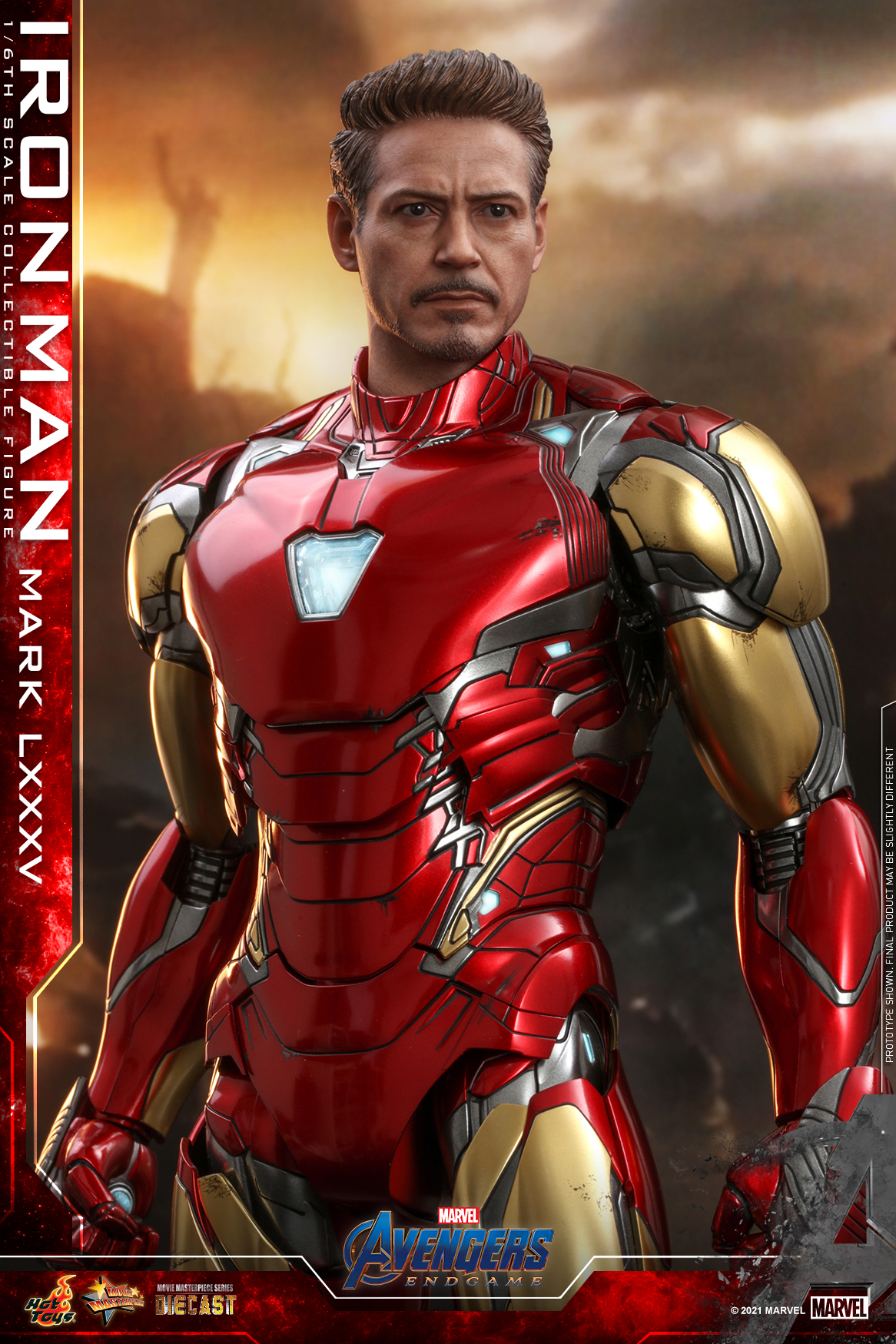 Hot Toys Avengers Endgame Iron Man Mark LXXXV collectible figure_updated head sculpt_PR3_
