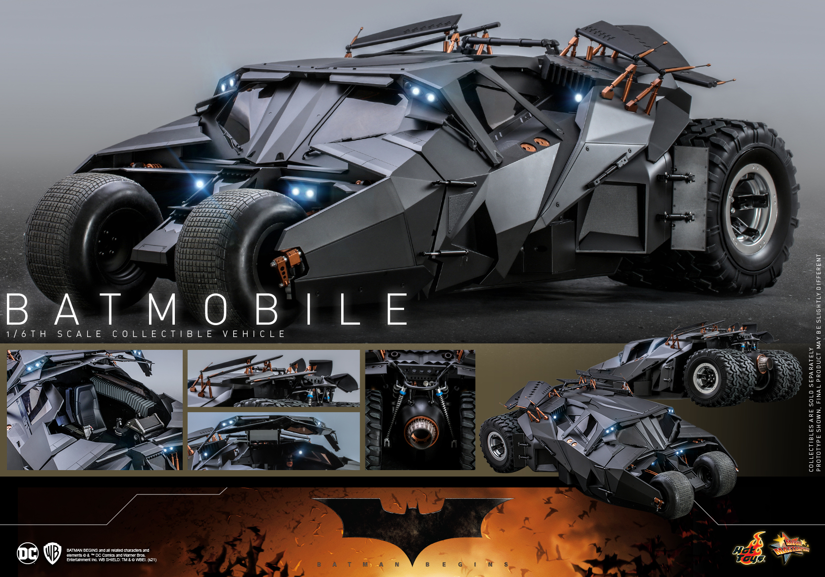 Hot Toys - Batman Begins - Batmobile collectible Vehicle_PR12