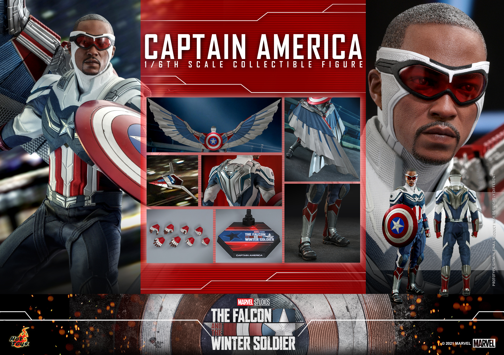 Hot Toys - Falcon and Winter Soldier - Captain America collectible figure_PR23