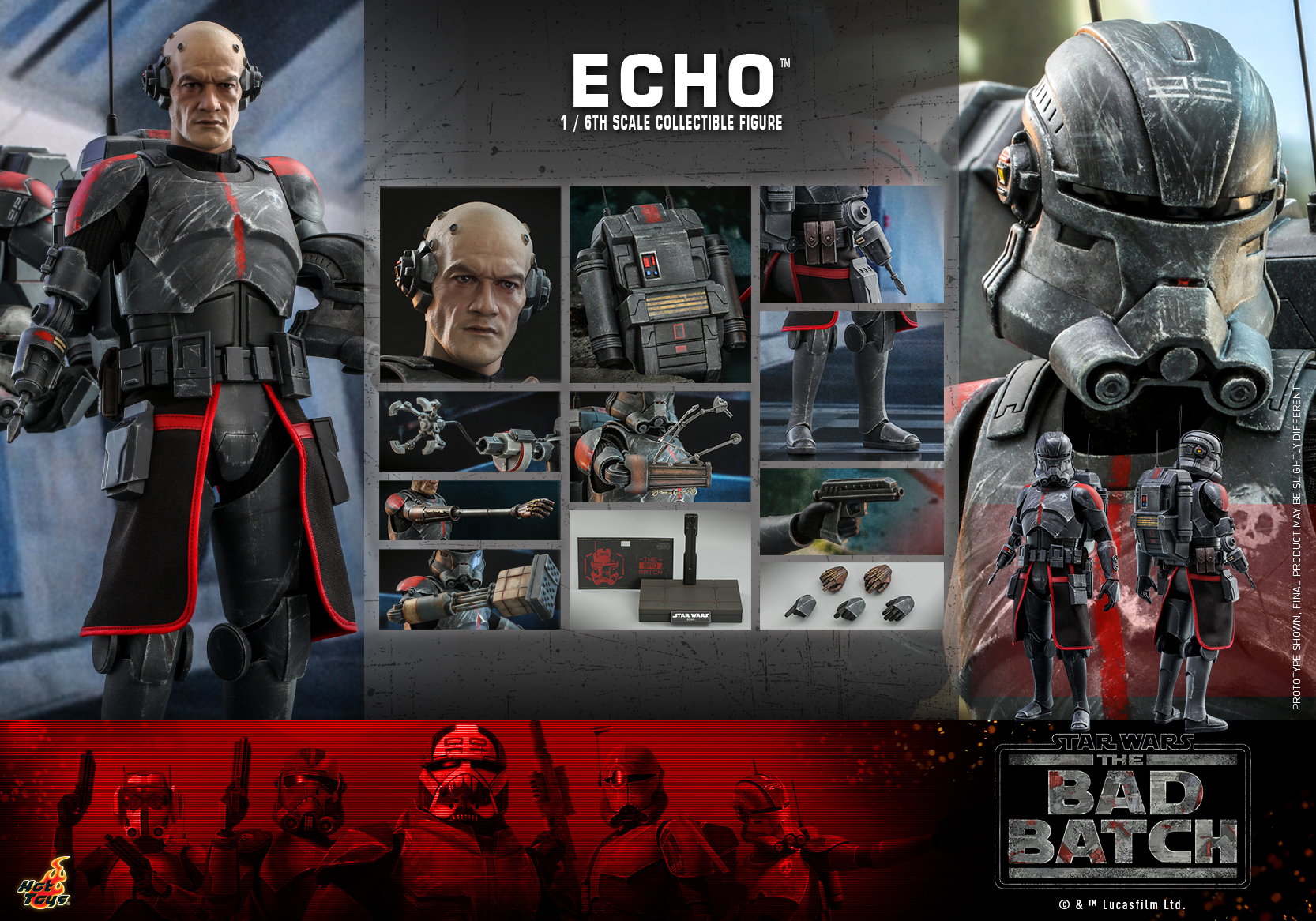 Hot Toys - Bad Batch - Echo Collectible Figure_PR20