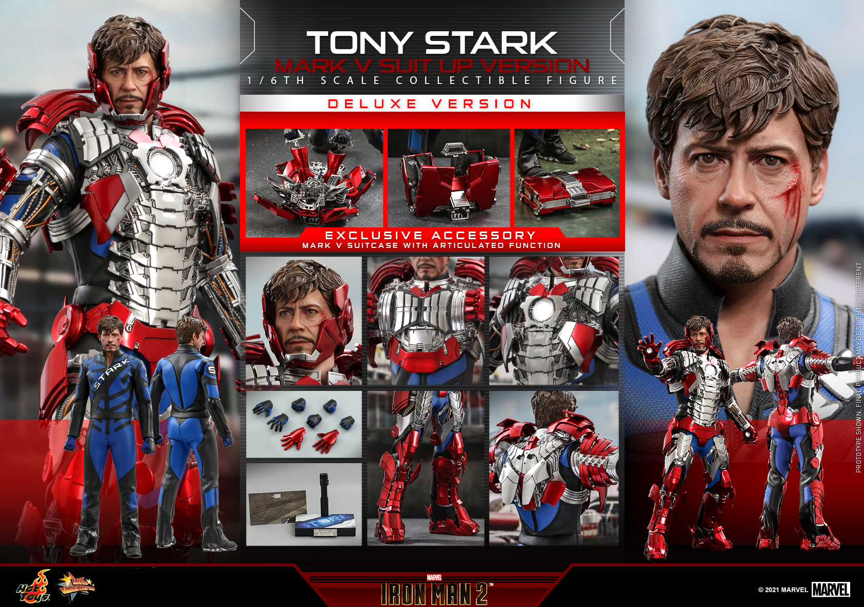 Hot Toys - IM2 - Tony Stark (Mark V Suit Up Version) collectible figure (Deluxe)_PR19