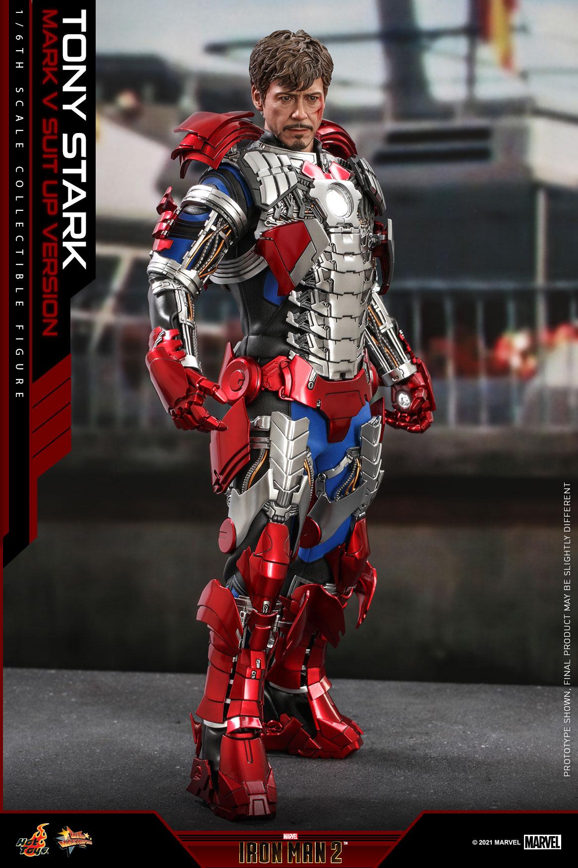 Hot Toys - IM2 - Tony Stark (Mark V Suit Up Version) collectible figure_PR3
