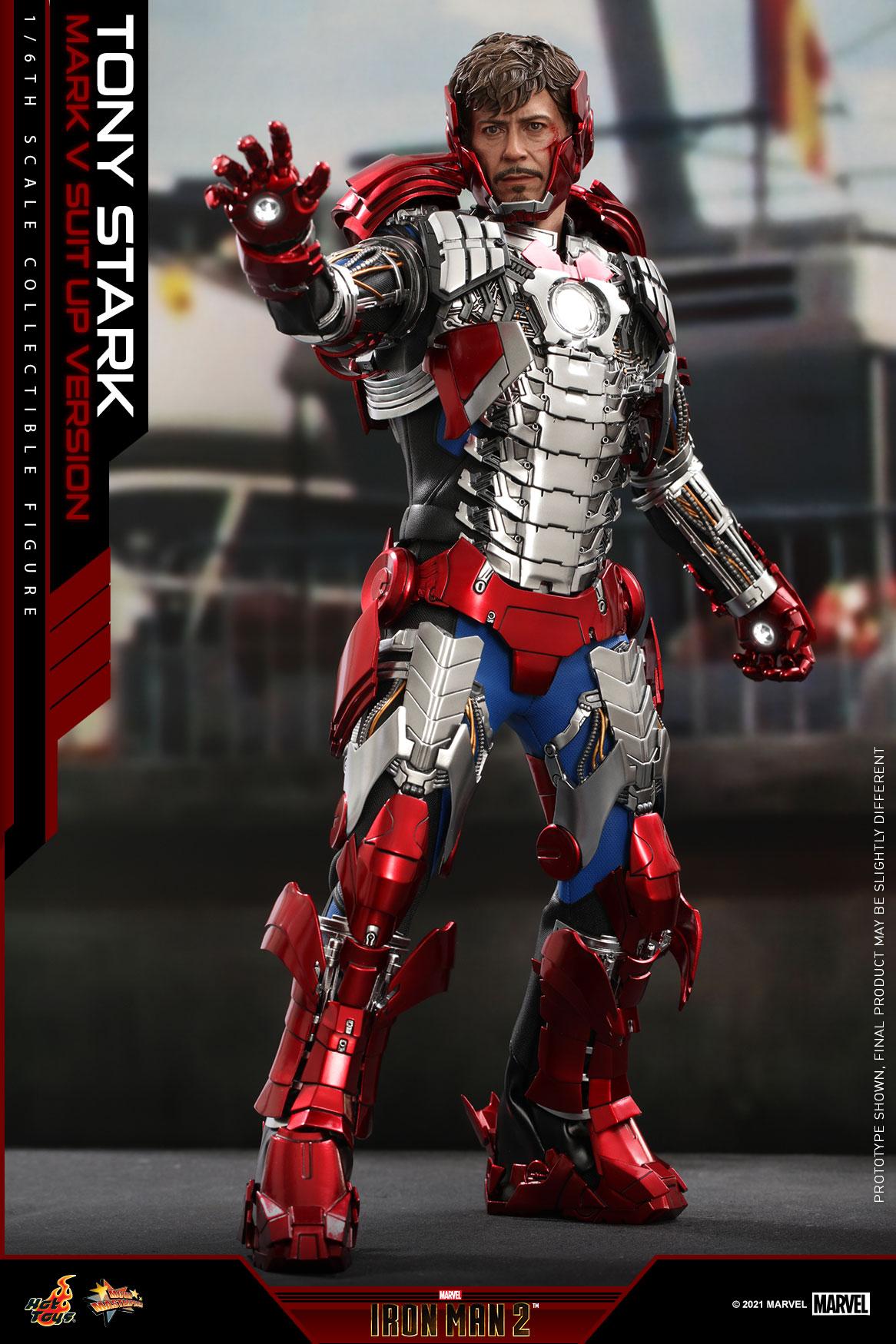 Hot Toys - IM2 - Tony Stark (Mark V Suit Up Version) collectible figure_PR5
