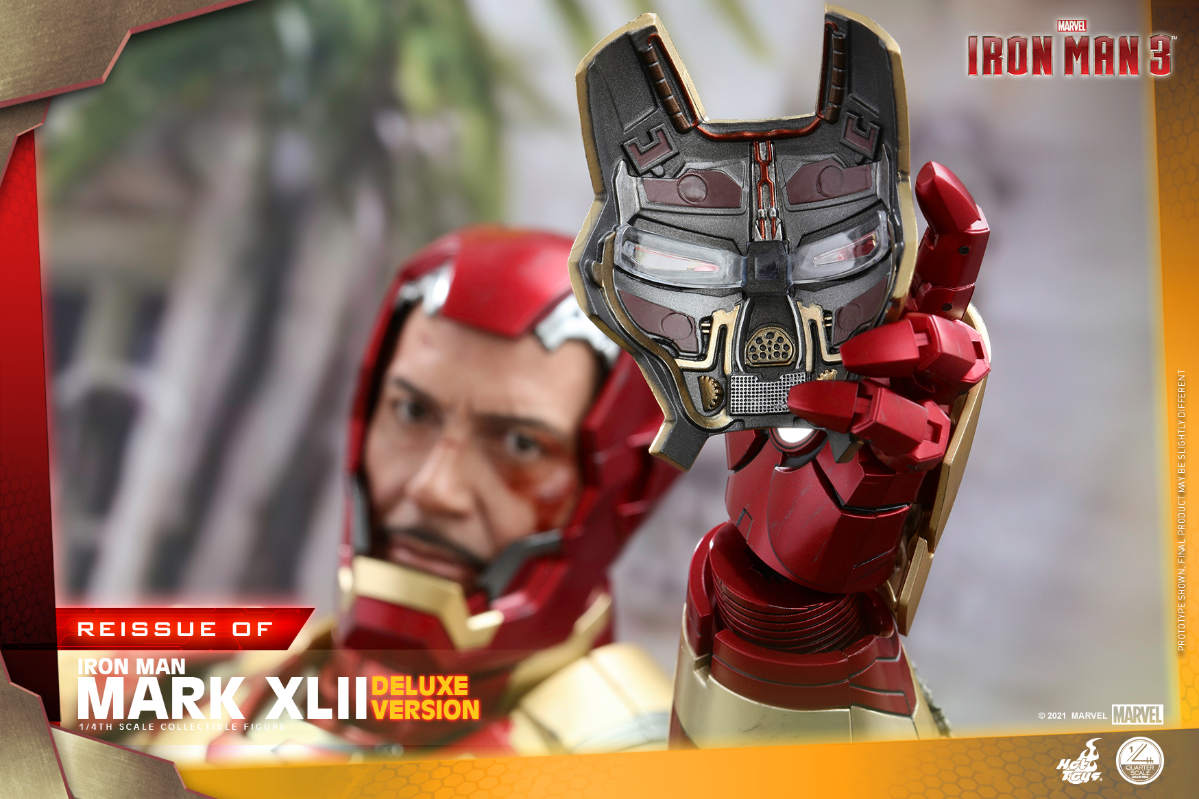 Hot Toys - Iron Man 3 - 1-4 Iron Man Mark XLII collectible figure_PR14