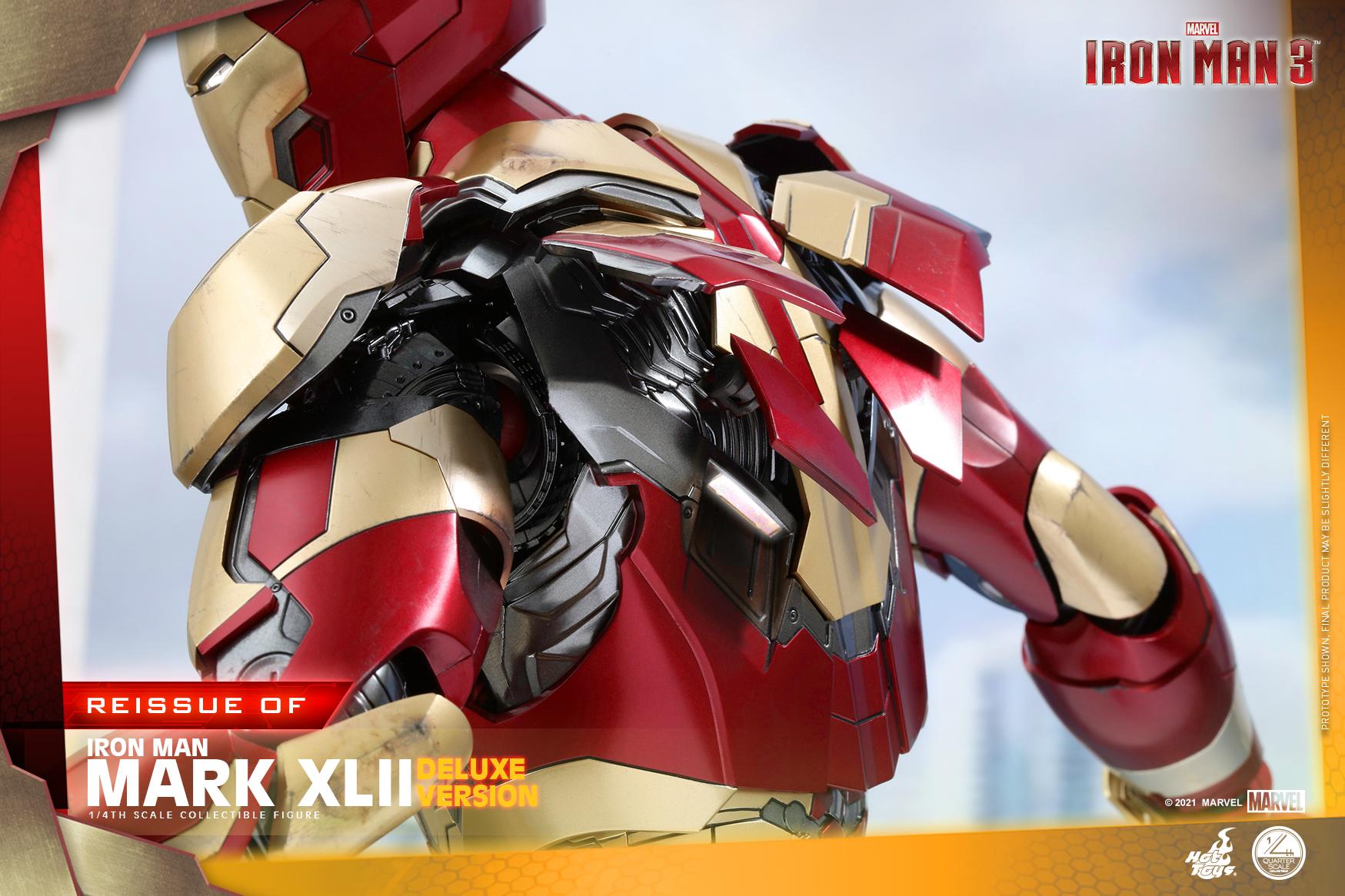 Hot Toys - Iron Man 3 - 1-4 Iron Man Mark XLII collectible figure_PR15