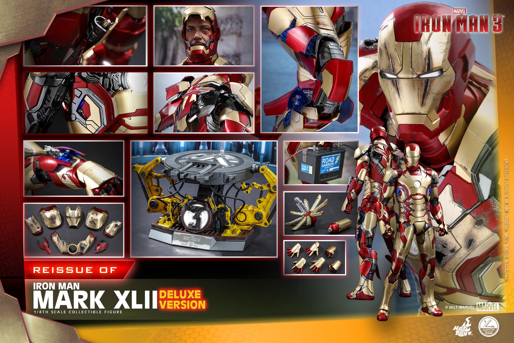 Hot Toys - Iron Man 3 - 1-4 Iron Man Mark XLII collectible figure_PR18