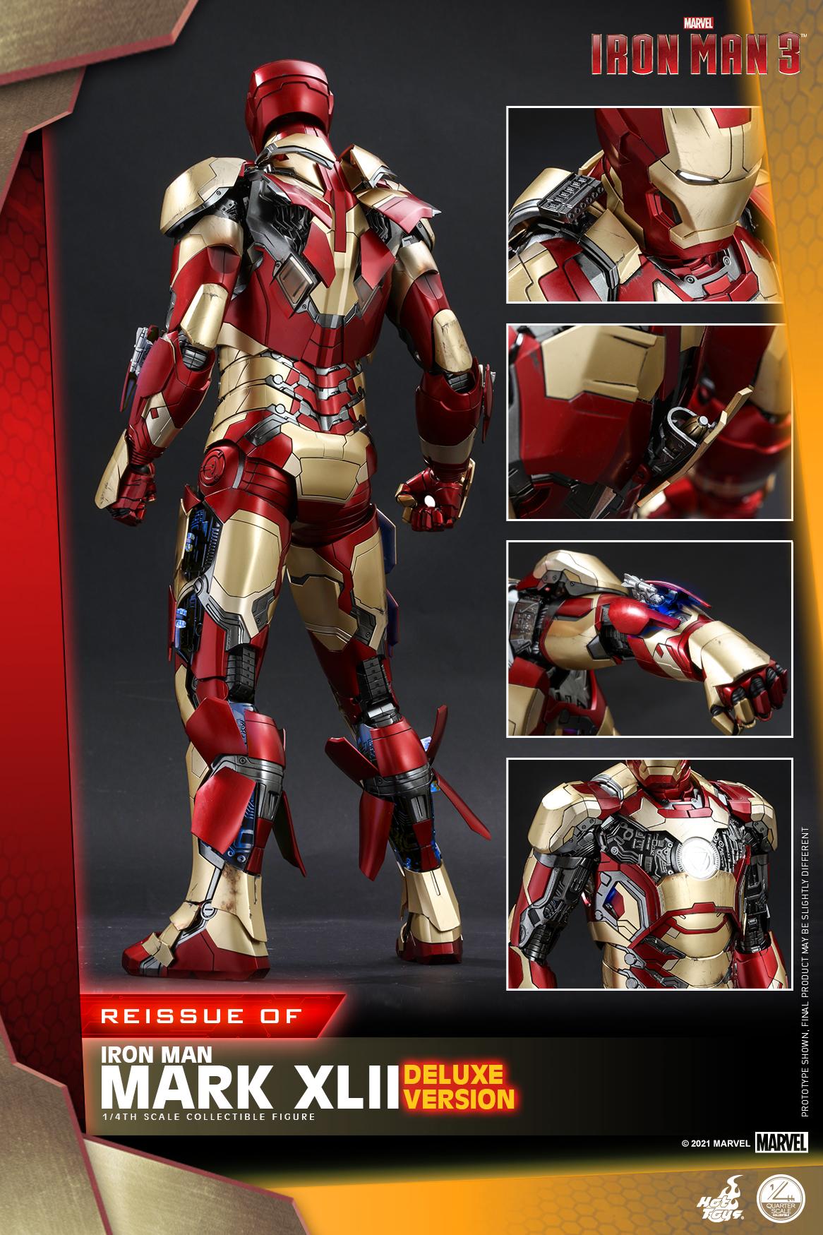 Hot Toys - Iron Man 3 - 1-4 Iron Man Mark XLII collectible figure_PR3
