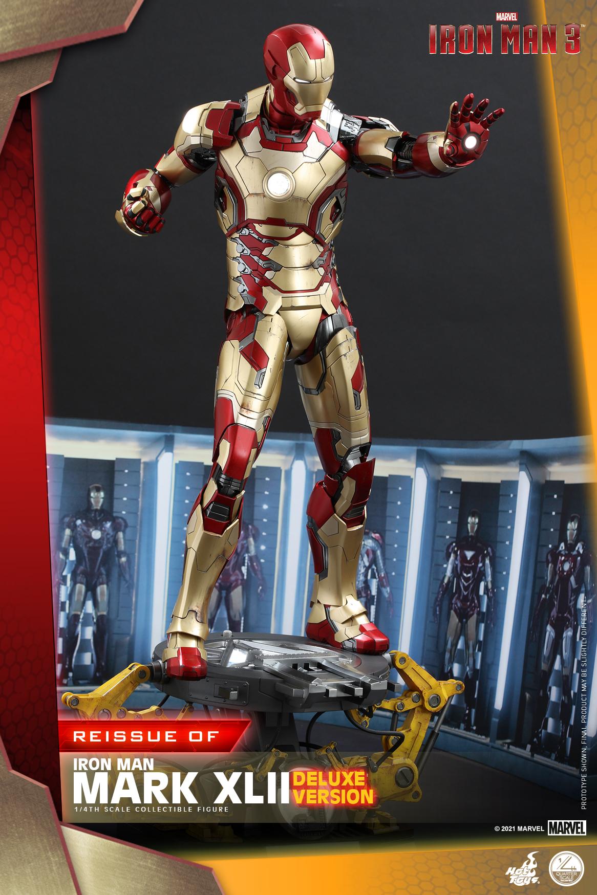 Hot Toys - Iron Man 3 - 1-4 Iron Man Mark XLII collectible figure_PR5