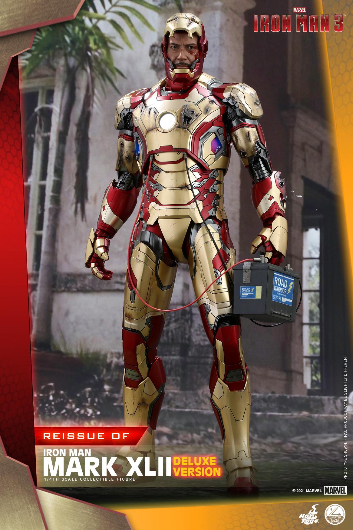 Hot Toys - Iron Man 3 - 1-4 Iron Man Mark XLII collectible figure_PR6