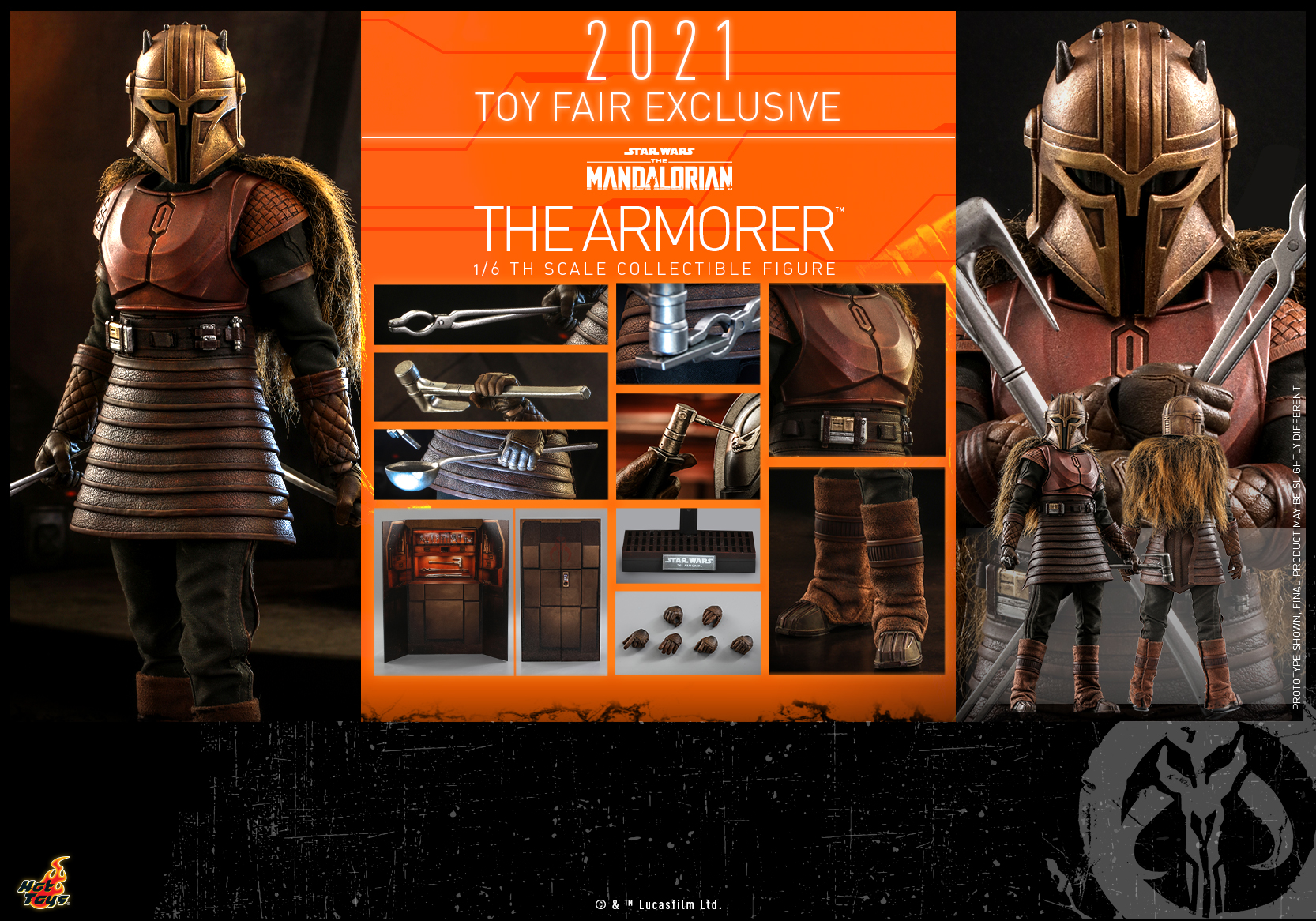 Hot Toys - The Mandalorian - The Armorer collectible figure_PR17