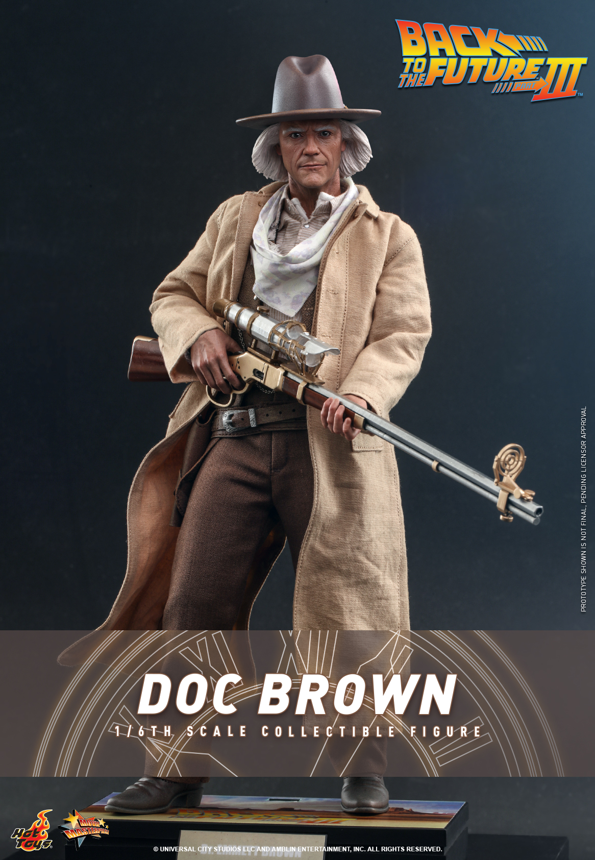 Hot Toys - BTTF3 - Doc Brown collectible figure_Cover