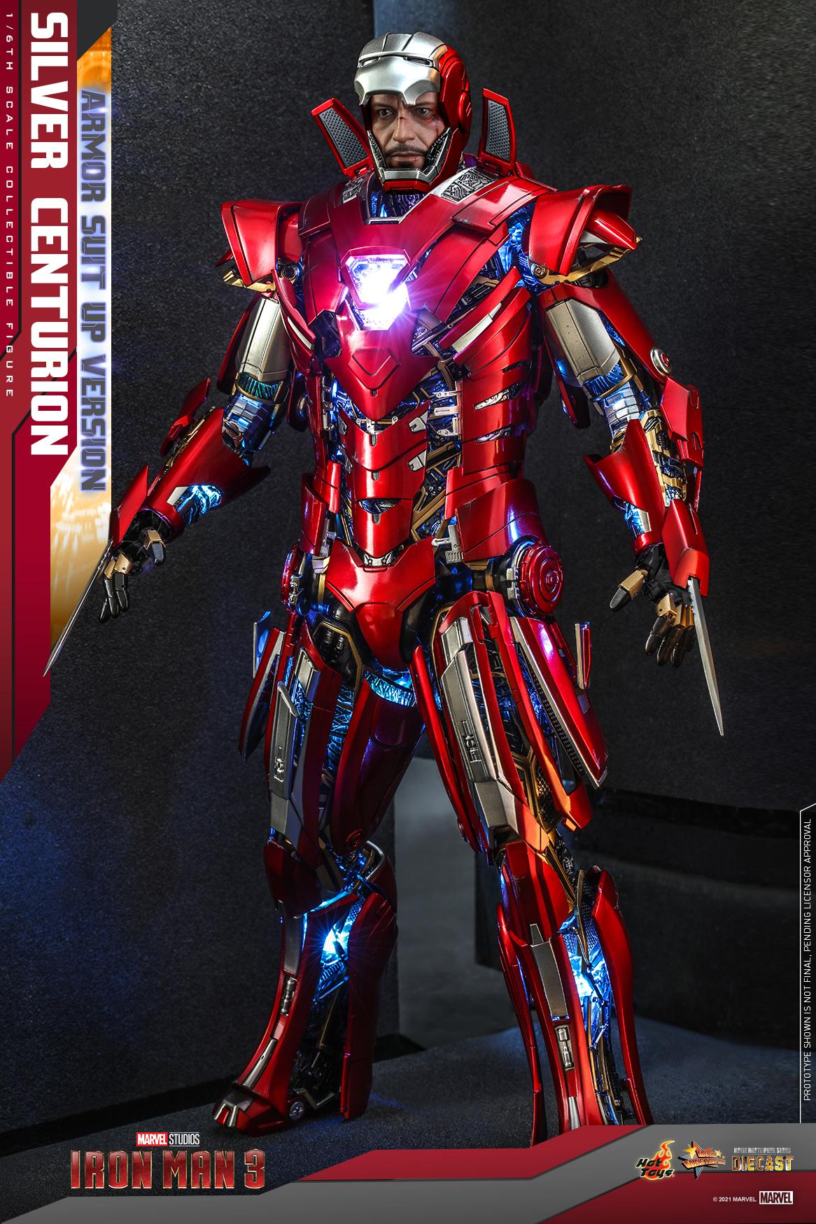 Hot Toys - IM3 - Silver Centurion (Armor Suit Up Version) collectible figure_PR1