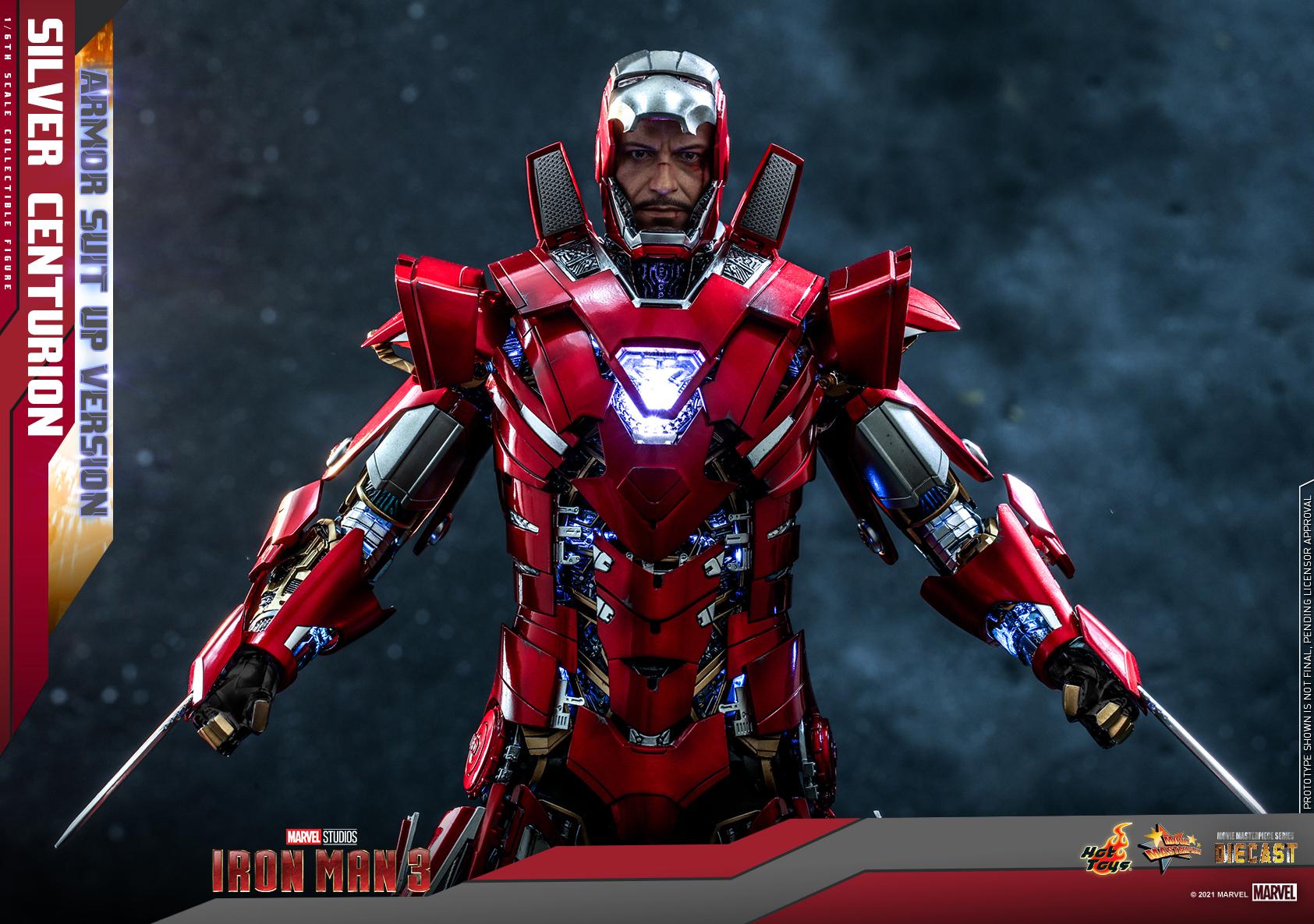Hot Toys - IM3 - Silver Centurion (Armor Suit Up Version) collectible figure_PR11