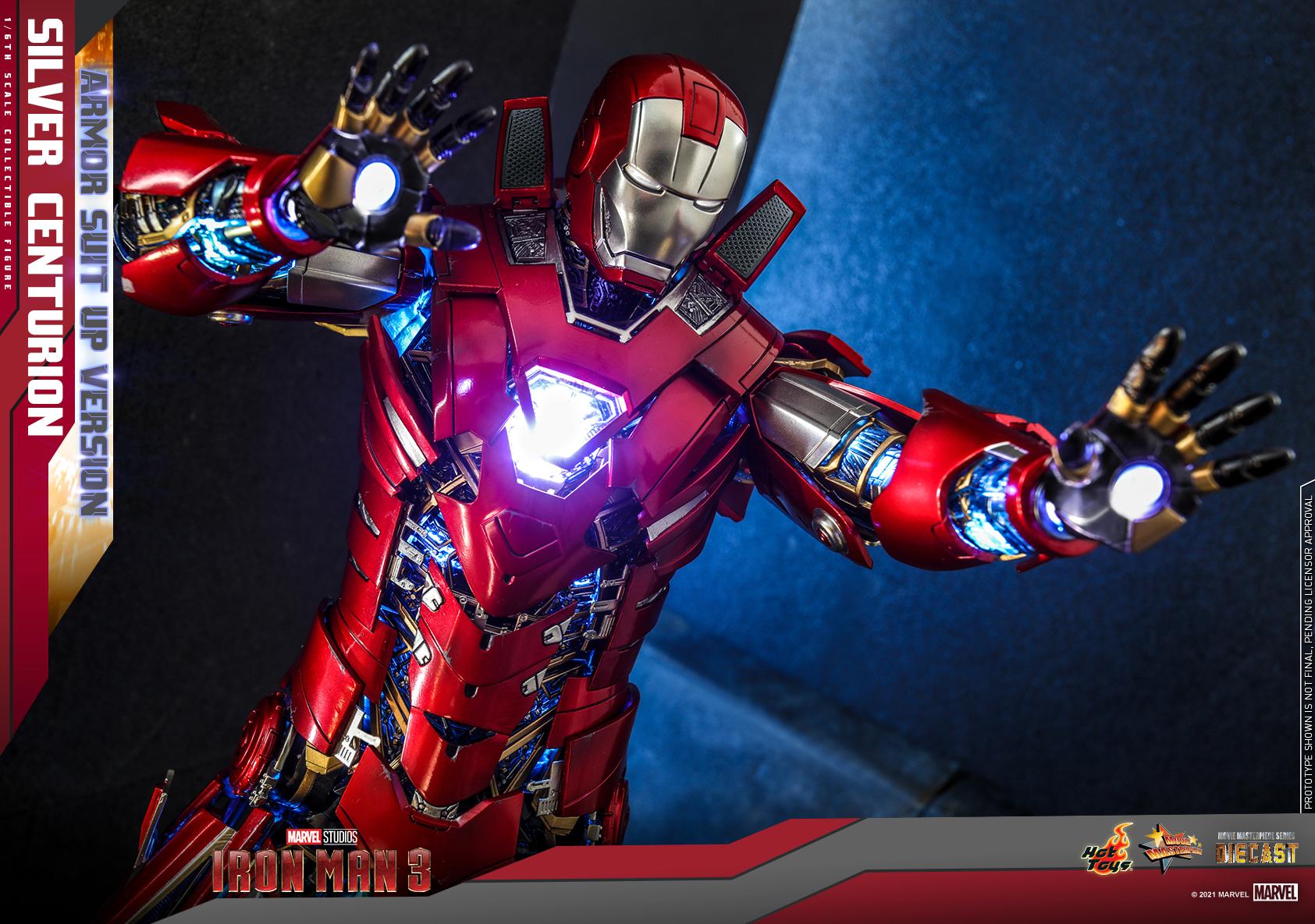 Hot Toys - IM3 - Silver Centurion (Armor Suit Up Version) collectible figure_PR12