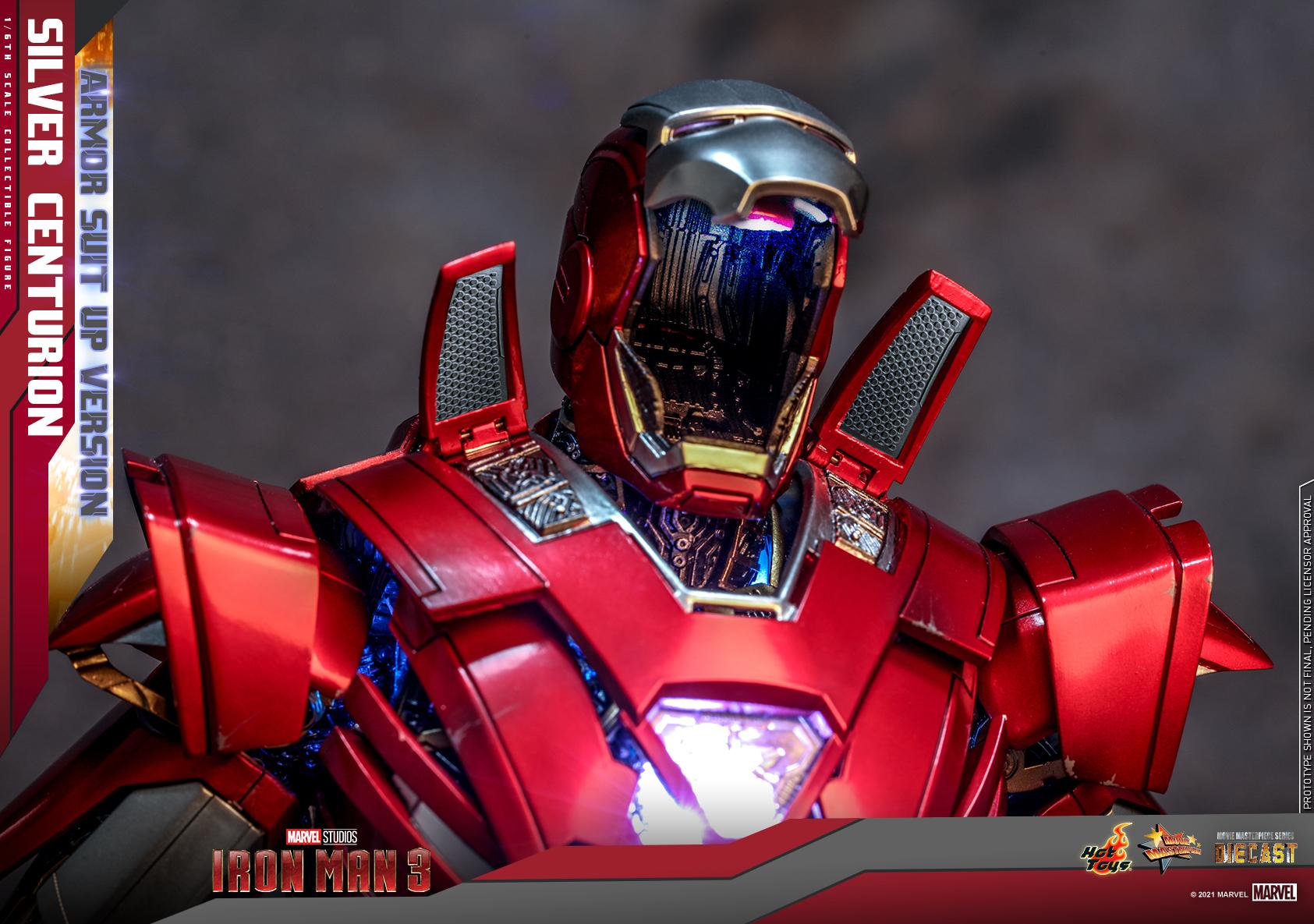 Hot Toys - IM3 - Silver Centurion (Armor Suit Up Version) collectible figure_PR13