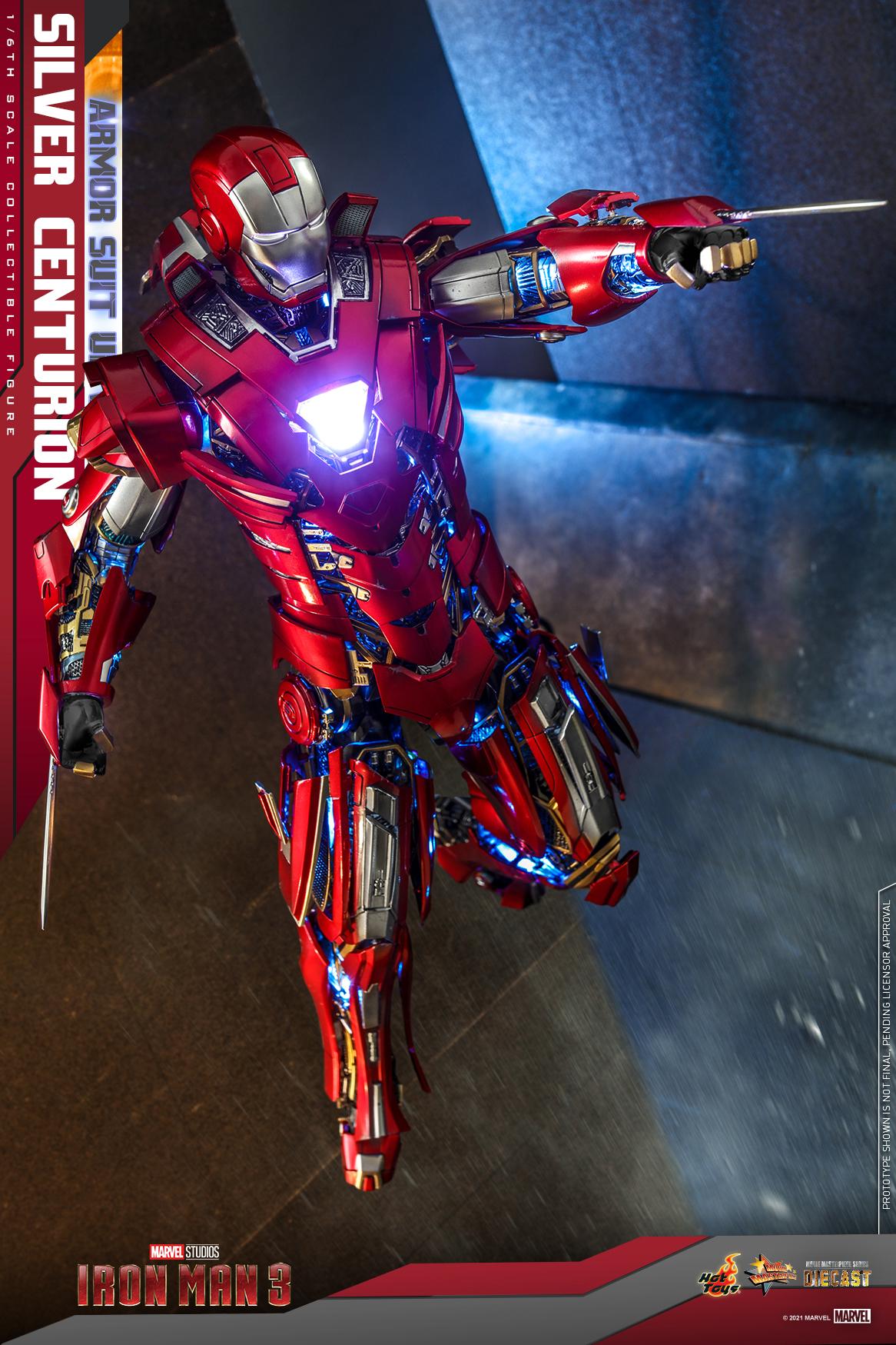 Hot Toys - IM3 - Silver Centurion (Armor Suit Up Version) collectible figure_PR6