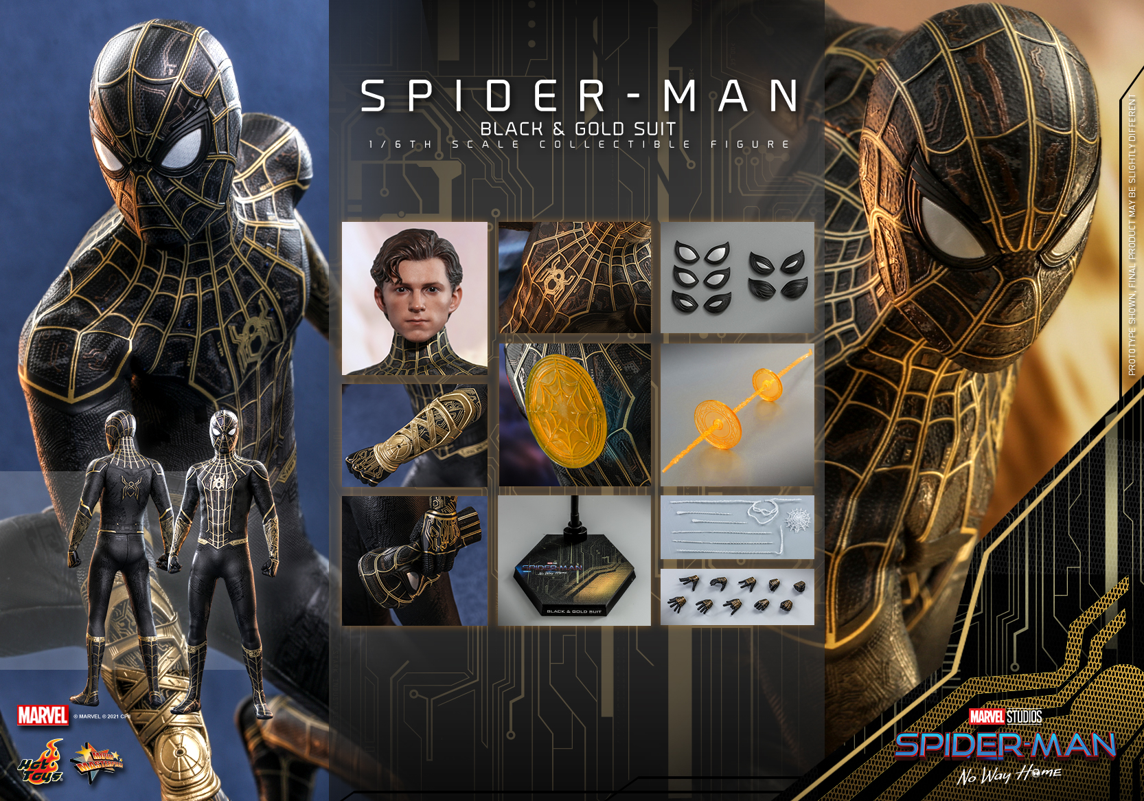 Hot Toys - SMNWH - Spider-Man (Black and Gold Suit) collectible figure_Update_PR10