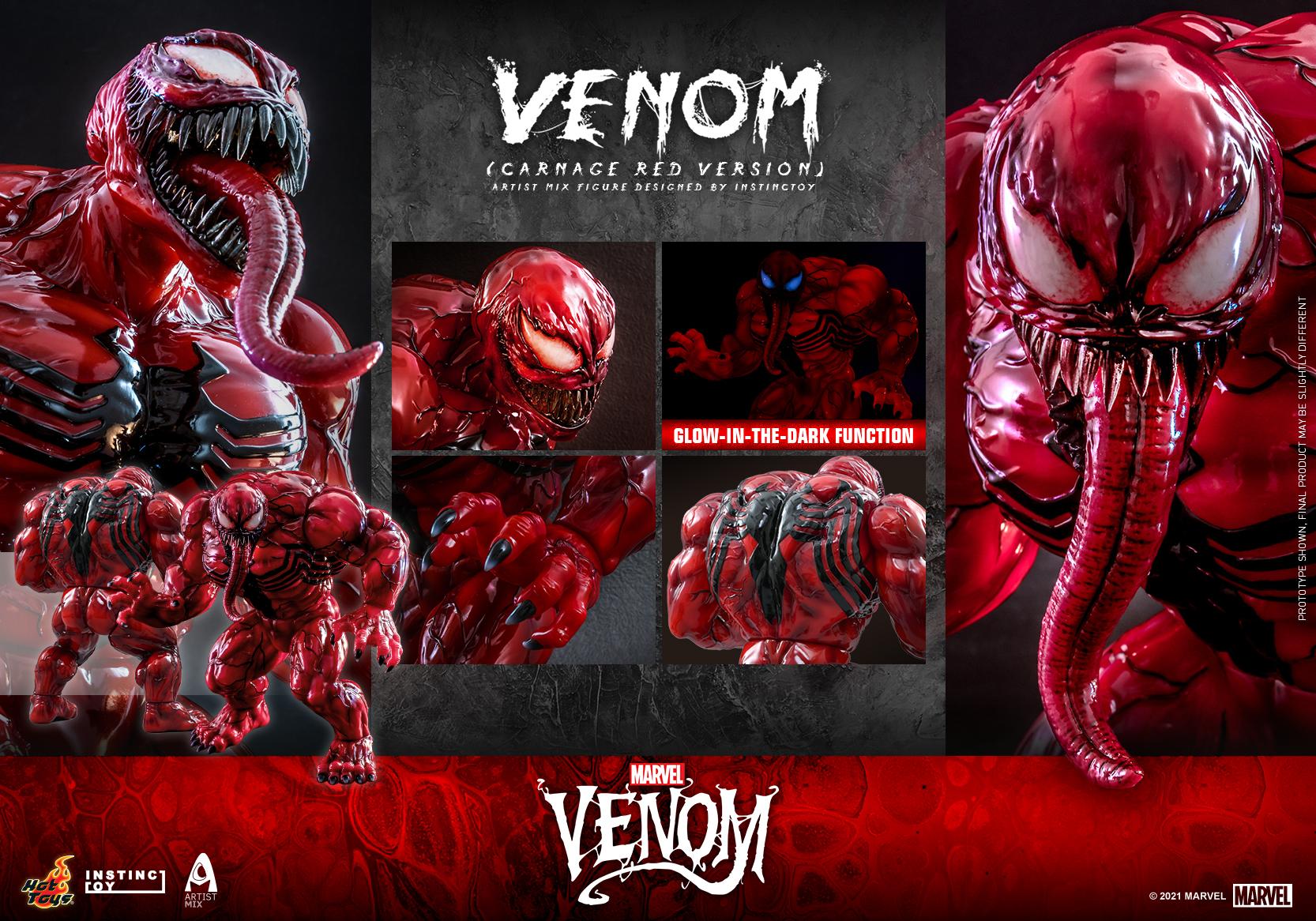 Hot Toys - Venom (Carnage Red Version) Artist Mix Figure Designed by Instinctoy_PR11