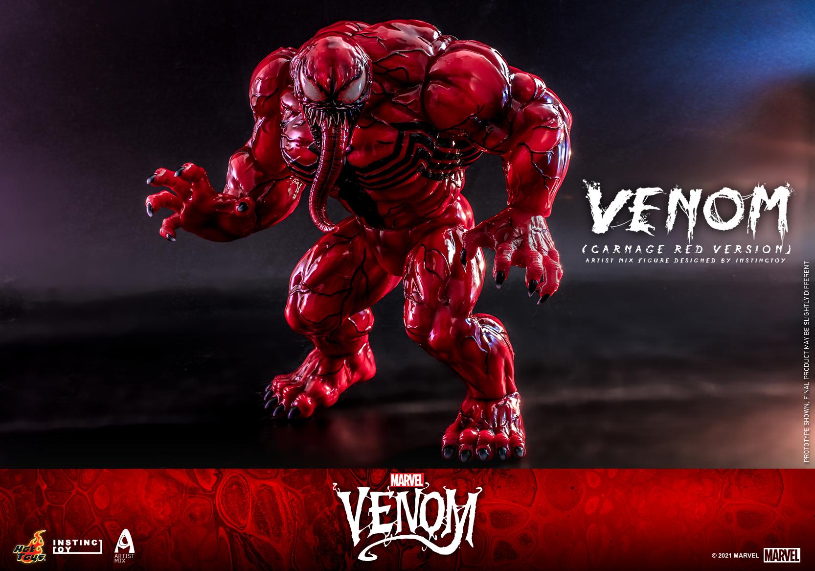 Hot Toys - Venom (Carnage Red Version) Artist Mix Figure Designed by Instinctoy_PR5